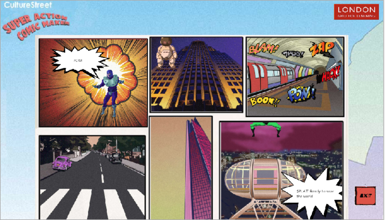 Super Action Comic Book Maker Screenshot